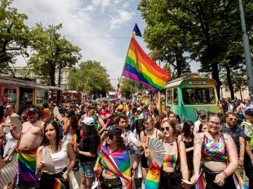Desfile del Orgullo LGTBI en Viena