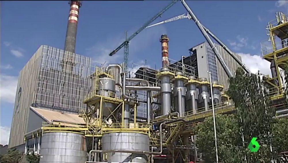 Fábrica ENCE en Pontevedra