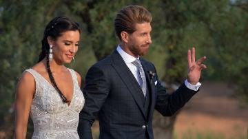 Pilar Rubio y Sergio Ramos después de su boda