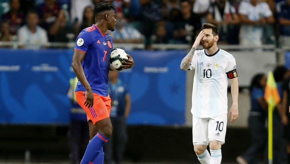Messi, ante Colombia