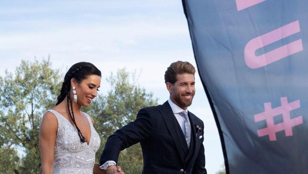 Pilar Rubio y Sergio Ramos el día de su boda