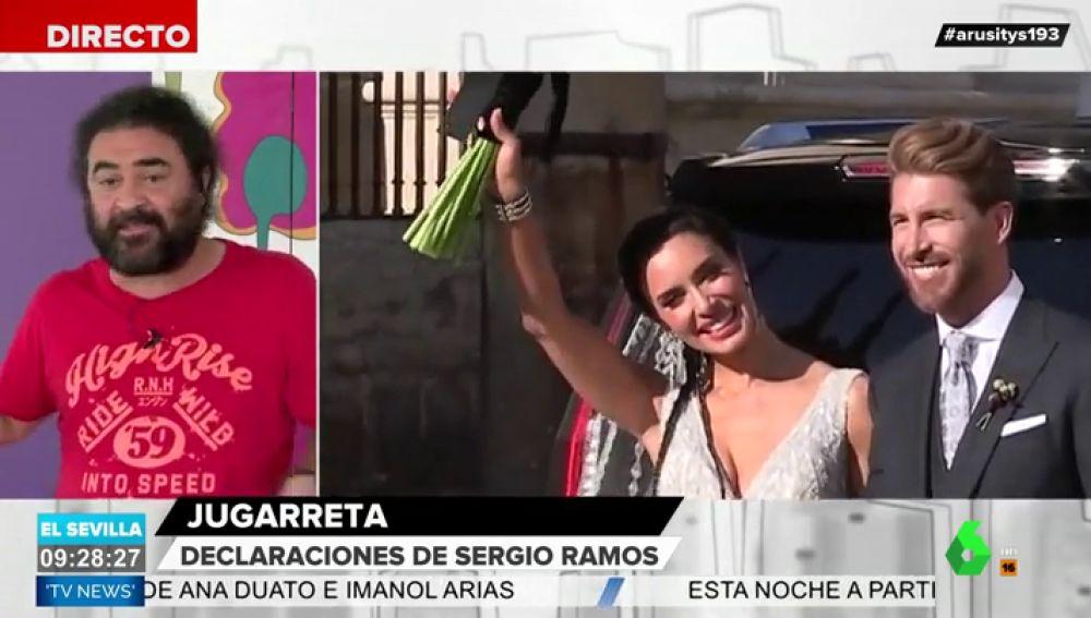 """El Sevilla analiza """"la jugarreta"""" de la boda de Sergio Ramos y Pilar Rubio"""