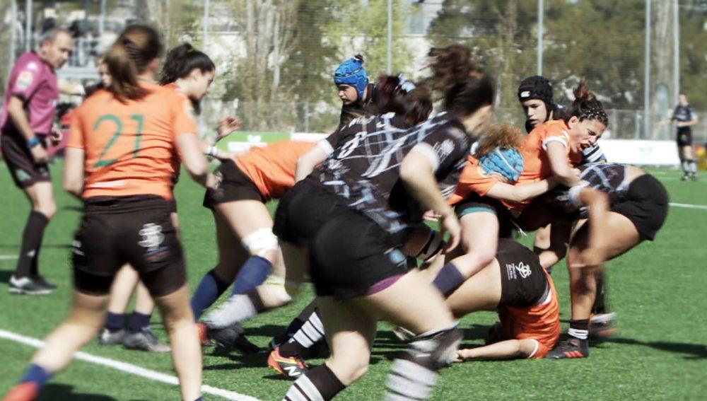 María Ribera en la final de rugby 2019