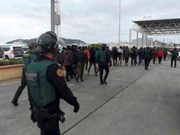 Imagen de archivo de otra operación de las Fuerzas de Seguridad del Estado en Ceuta