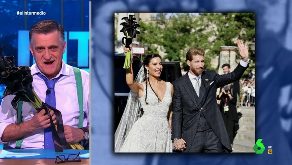 Wyoming se hace con el ramo de calas negras que utilizó Pilar Rubio en su boda con Sergio Ramos
