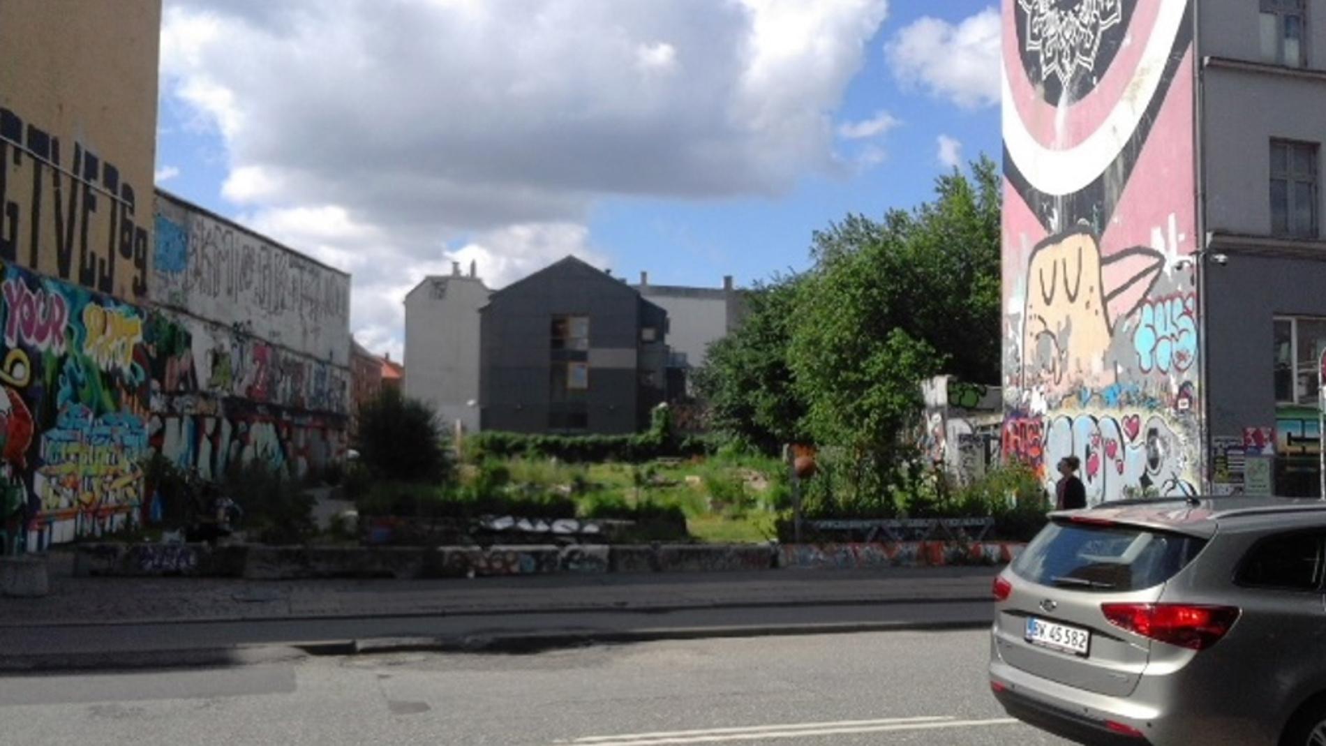 Huerto urbano de la ciudad de Copenhague.