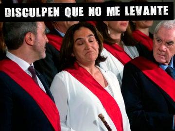 Ada Colau tomando posesión del cargo de alcaldesa de Barcelona