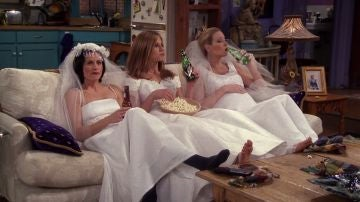 Monica, Rachel y Phoebe en 'Friends'