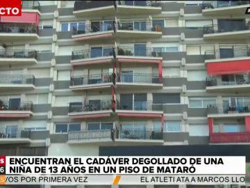 El bloque de viviendas donde hallaron a la menor asesinada en Mataró