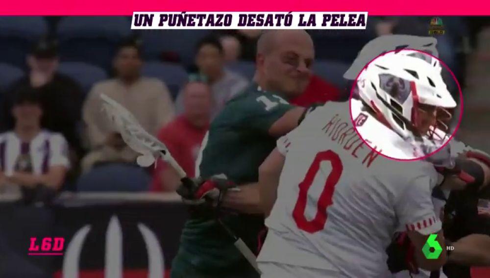 El otro lado del lacrosse: duras peleas que se sancionan... con dos minutos fuera del partido