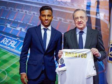 Rodrygo, en su presentación con el Real Madrid