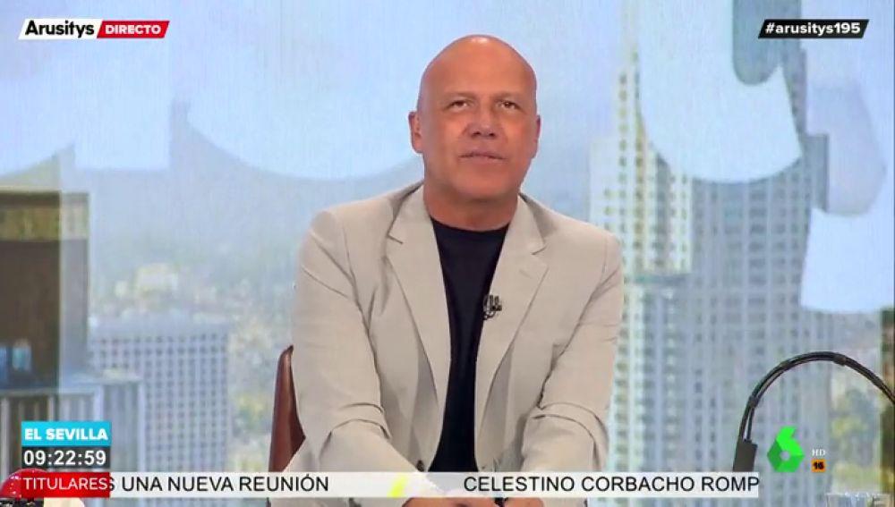 """El 'enfado' de Alfonso Arús tras escuchar una tos en plató: """"No tienes derecho a toser mientras yo hablo"""""""