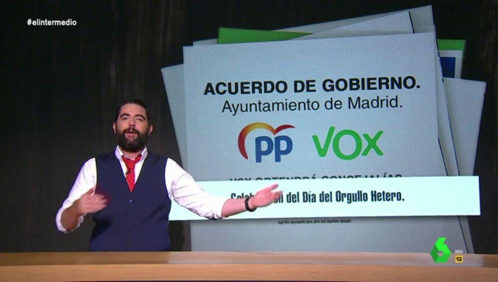 Dani Mateo 'desvela' en exclusiva los puntos más polémicos del acuerdo entre PP y Vox en Madrid