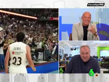 Ferreras explica su eufórica reacción con la victoria del Madrid al Barcelona en la ACB