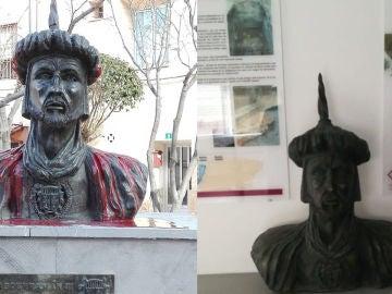 Busto de Abderramán III en Cadrete, Zaragoza