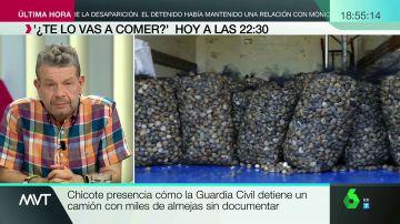 """Chicote destapa el marisco ilegal en España: """"Entran miles de kilos de almejas de playas cerradas por contaminación"""""""