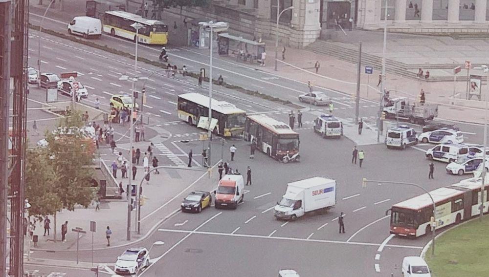 Accidente de autobús en Barcelona