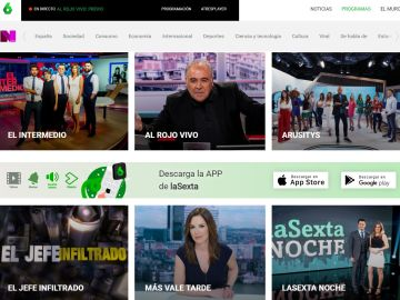 Imagen con algunos de los programas de laSexta