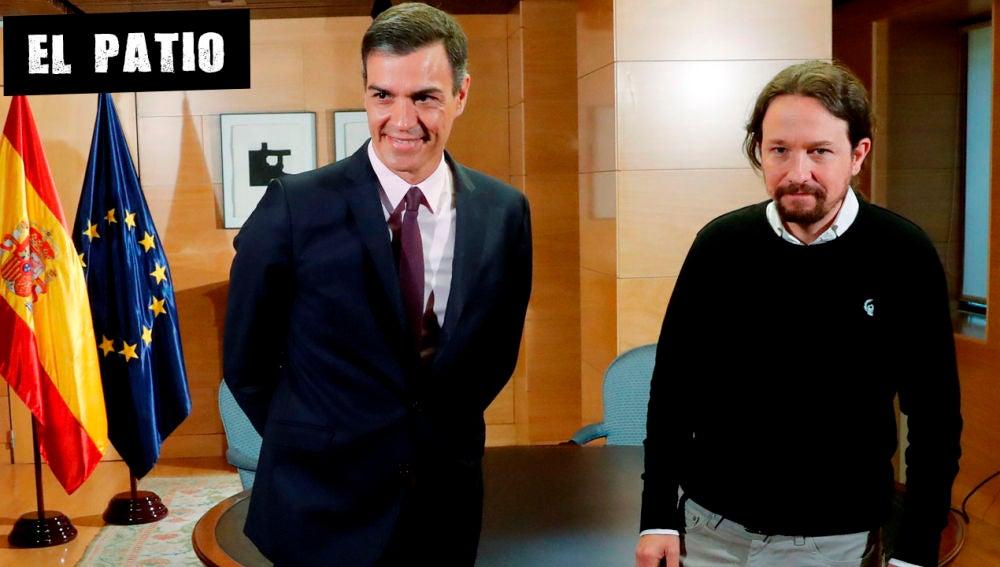 Pedro Sánchez con Pablo Iglesias