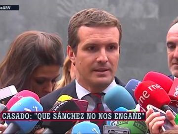 """Casado insta a Sánchez a evitar que los """"herederos"""" de ETA decidan en Navarra"""