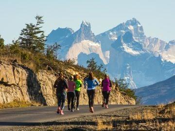 Runners en la Patagonia