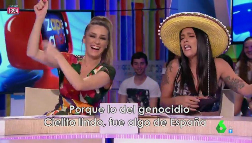"""Lorena Castell crea un auténtico hit para pedir perdón a México: """"Esos españolazos una somanta a palos os dieron"""""""