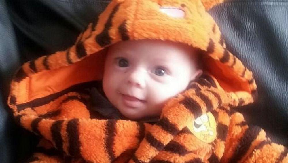 La víctima, el bebé de dos meses Tyler Morgan