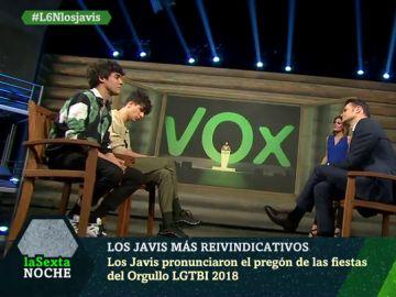 Los Javis, en laSexta Noche