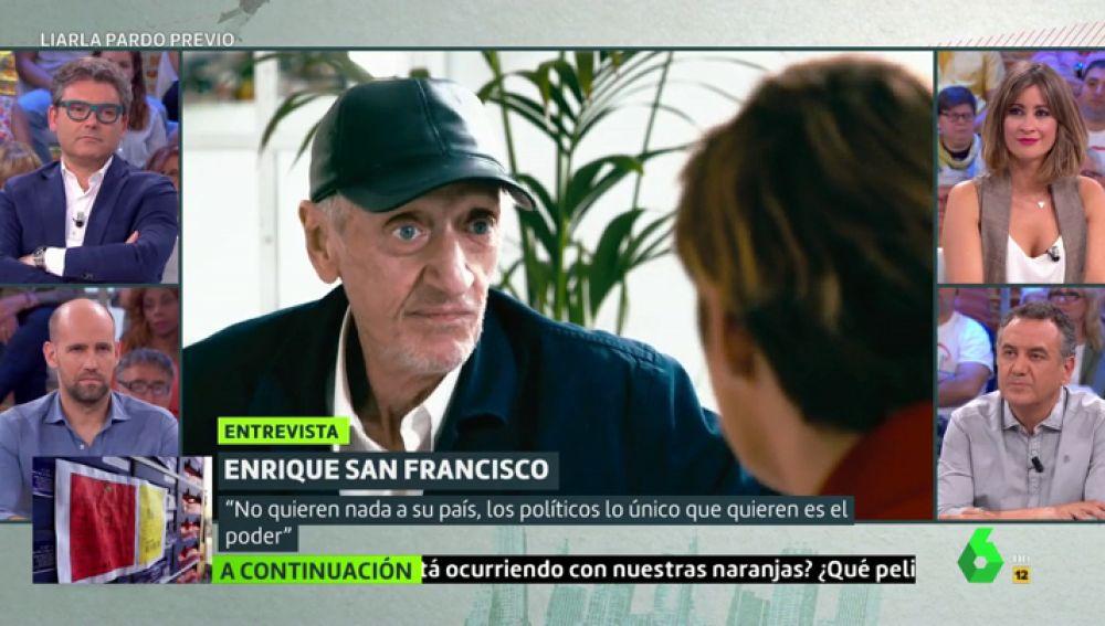Enrique San Francisco habla con Cristina Pardo