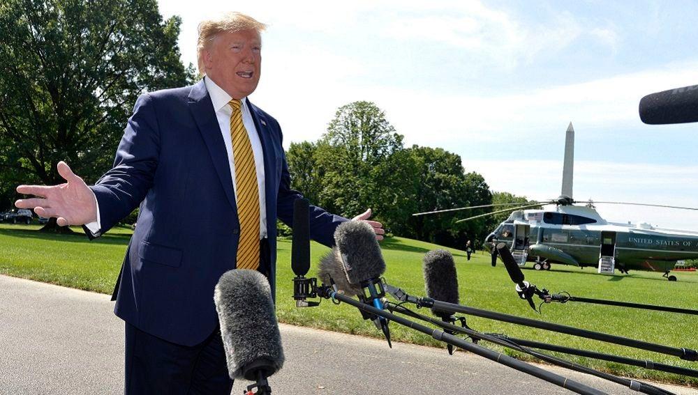 El presidente de EE.UU., Donald J. Trump, hace unas declaraciones a la prensa