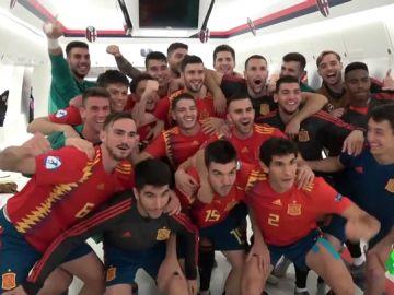"""La celebración de España tras golear a Polonia y asegurarse estar en Tokio 2020: """"Es algo histórico"""""""