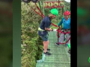 El Sergio Ramos más aventurero en sus vacaciones con Pilar Rubio: de hacer 'puenting' a tirarse en tirolina