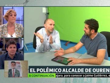 Liarla Pardo habla con el polémico alcalde de Ourense