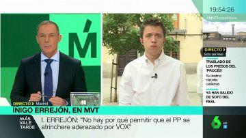 """Íñigo Errejón insiste en que """"la mano sigue tendida"""" para llegar a un acuerdo con el PSOE y Ciudadanos en la Comunidad de Madrid"""