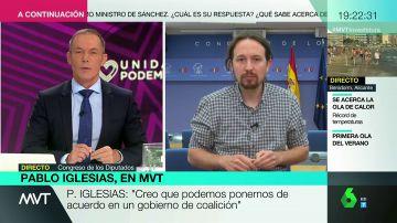"""Pablo Iglesias: """"Nosotros no vamos a vetar a nadie y no concibo que el PSOE pueda vetar a nadie que proponga Unidas Podemos"""""""