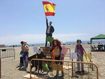 El muñeco de Abascal quemado en Estepona