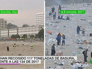Crece la conciencia ecológica: este es el resultado de las playas tras la noche de San Juan en 2017 y en 2019