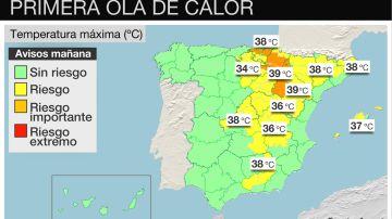 Mapa de temperatura en España