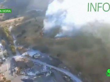 Incendio forestal en Villaviciosa de Córdoba