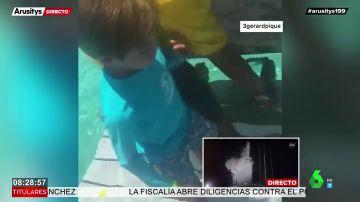 Shakira y Piqué, vacaciones entre tiburones junto a sus hijos Milan y Sasha