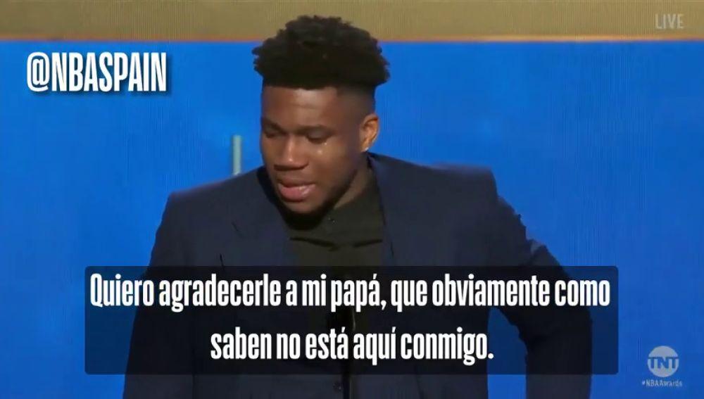 Premios NBA: el inspirador discurso de Giannis Antetokounmpo tras ganar el MVP 2018/19