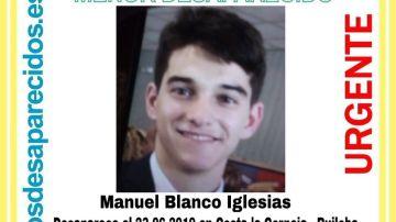 Manuel Blanco, el menor de 16 años desaparecido en Cantabria