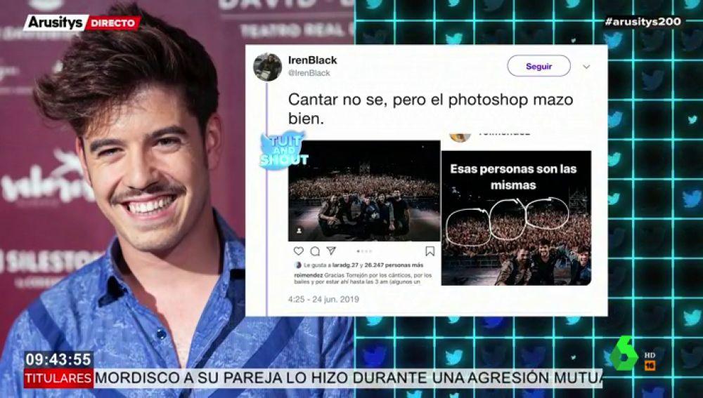 Roi Méndez la lía con el photoshop: multiplica el público de su concierto y las redes arden