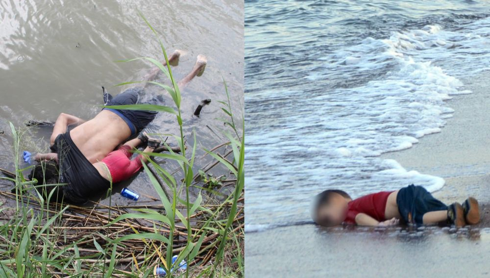 Los cuerpos sin vida de Valeria y su padre en la frontera de EEUU, y del pequeño Aylan en Turquía en 2015