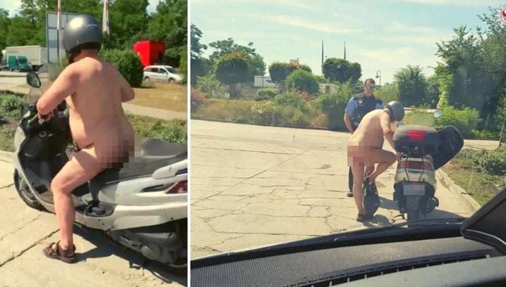 Hombre desnudo en Alemania