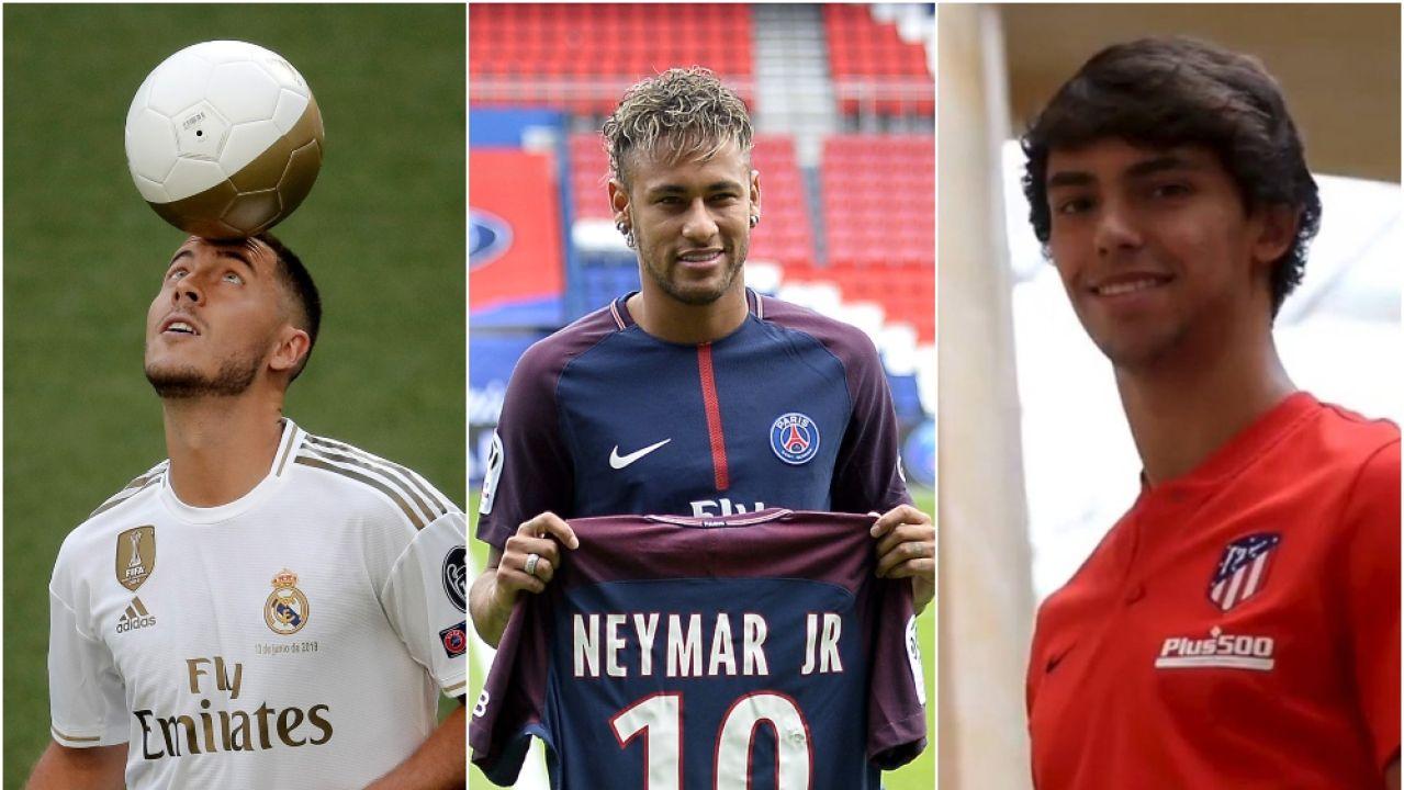 Hazard, Neymar y Joao Félix, entre los fichajes más caros de la historia