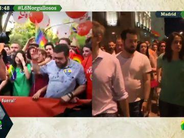 Evacúan a los miembros de Ciudadanos del desfile del Orgullo tras la tensión con los manifestantes