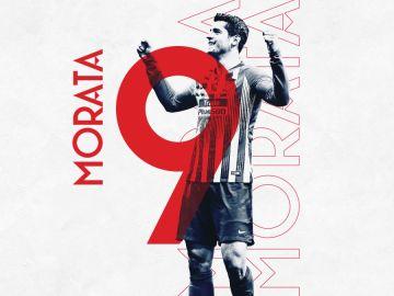 Álvaro Morata, nuevo 9 del Atlético