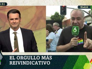 """VÍDEO REEMPLAZO - Ferreras, en la manifestación del Orgullo: """"Gracias a ellos este país es mejor, y hay que dejar claro que ni un paso atrás"""""""