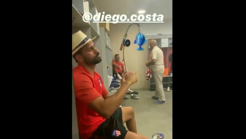 Diego Costa, de 'pesca'
